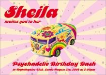 Psycadellic 1960's Party Invite