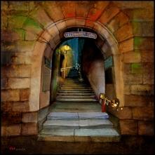 Way to the Castle (Edinburgh) by Konecka
