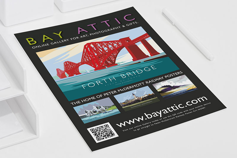 What's Bay Attic got online for me to buy, What's artist work do they offer ? What type of prints are available from Bay Attic ? Read our handy leaflet and see what's in store for you when you shop with us.